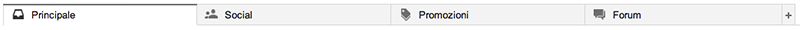 Gmail Inbox tabs